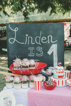 little red wagon birthday | Little Red Wagon 1st birthday party via Kara's Party Ideas ...
