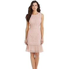 Antonio Melani Floral Lace Dress  Beautifully detailed Lace pattern. Blush Pink. Back zipper. Never Worn-Brand New! True to size. True color best shown in last two photos. This dress goes perfectly with the Alex Marie shoes available in my closet! ANTONIO MELANI Dresses
