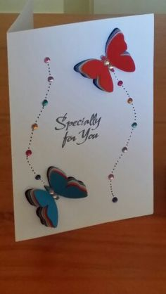Butterfly cards made by Creative Shazzy.. All Kaszazz Products.