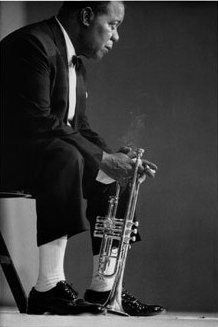 Louis Armstrong...the king of jazz and the man that could play a trumpet like nobody else.  The man with a voice that belonged only to him.