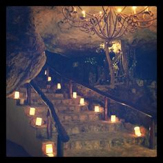 The entrance to Alux Restaurant in Playa del Carmen, Mexico. It's a Mayan restaurant with a twist – tucked inside an old, dried-up cenote. As you walk down this stone staircase, you enter the cave which is full of winding pathways through the large restaurant, with separate private dining areas, a bar, and even a nightclub – all underground with the raw elements of the cenote surrounding you. Most importantly, the food was excellent, and so were the cocktails. Great for a romantic dinner.