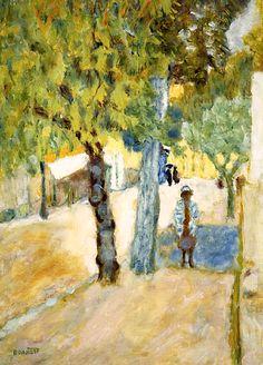 Personnages dans la Rue. Pierre Bonnard (1867-1947)
