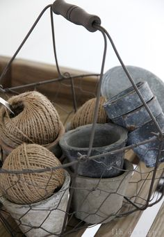 twine, wire, zinc and clay | from LLH DESIGNS photography.