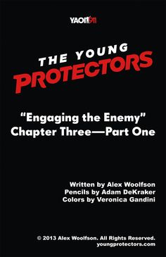 The Young Protectors: Engaging The Enemy Chapter Three Part One—Title Page - Yaoi 911 Webcomics