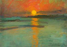 Konrad Krzyzanowski -- Sunset on the Water