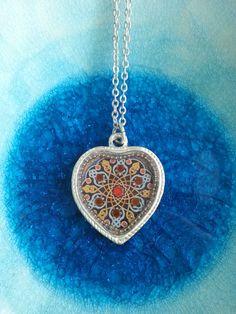 Heart Pendant Ornament Pendant Ornament Necklace by NatashaLaria