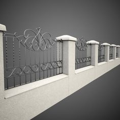 wrought iron fence metal model - e wrought iron fence metal model wrought iron fence metal House Fence Design, Modern Fence Design, Balcony Railing Design, Window Grill Design, Tor Design, Iron Garden Gates, Iron Gate Design, Wrought Iron Fences, Iron Decor