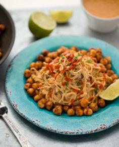 Speedy Sriracha-Peanut Soba Noodles with Smoky Maple Skillet Chickpeas