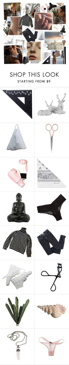 """this is broken love in the first degree"" by golden-rod ❤ liked on Polyvore featuring GET LOST, Design Letters, Anastasia Beverly Hills, adidas, NLY Accessories, Cosabella and Bobbi Brown Cosmetics"