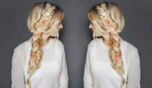 Today I am sharing with you a step by step hair tutorial using my new favourite flower accessory from Flower Child Hair. I personally love the colour and the quality of the flowers. Messy Fishtail Braids, Fishtail Braid Hairstyles, Braided Hairstyles Tutorials, Braided Ponytail, Boho Hairstyles, Twist Braids, Party Hairstyles, Boho Braid, Hair Styles