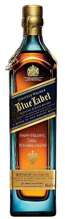 Johnnie Walker Blue...it was a special occasion