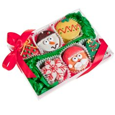 USA Cookies - Christmas Brownie Gift Box of 6