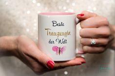 Beste Trauzeugin der Welt | Hochzeit Trauzeugin Tasse mit Schmetterling Geschenk