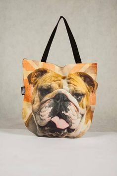Cute & Unique Christmas Gift. 3D Handbag with British Bulldog Handmade in EU!