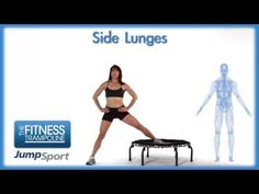 JumpSport Fitness Trampoline Workouts - Side Lunges