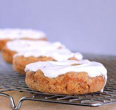 HEALTHY Banana Bread Breakfast Doughnuts: http://chocolatecoveredkatie.com/2012/02/22/banana-bread-breakfast-doughnuts/