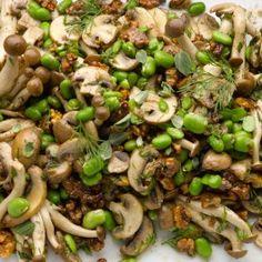 Marinated mushrooms with walnut and tahini yogurt Mushroom season, and this is such a wonderful way to celebrate mushrooms