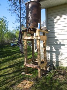 Outdoor Shower Clean Up After Gardening And Water Conservation Camping