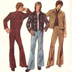 The brought us the leisure suit.men wore this look a lot. Disco Fashion, 1960s Fashion, Trendy Fashion, Vintage Fashion, Men's Fashion, 60s Hippie Fashion, Fashion Rings, British Fashion, Fashion Days