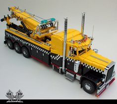 amazing lego trucks | LEGO Peterbilt Tow Truck Probably Could Really Tow LEGO Cars