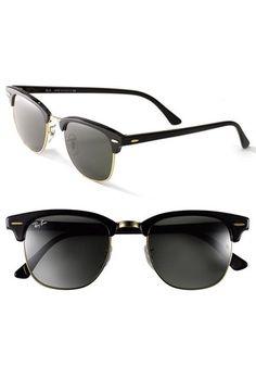6cc34f635f Ray-Ban  Clubmaster  Sunglasses available at but polarized tortoise gold