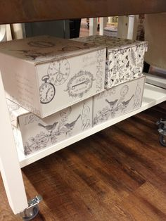 Chic Storage boxes £6.99 from Home Sense / TK Maxx