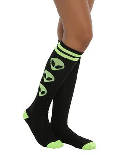 Loungefly Alien We Out Here Knee High Socks,
