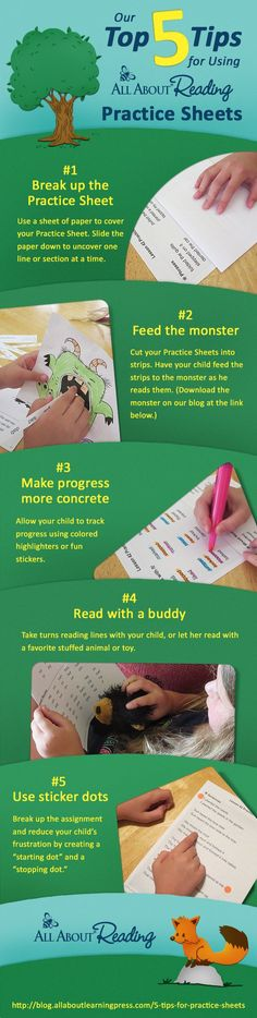 Our Top 5 Tips for Using Practice Sheets - All About Reading