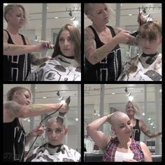 Cool Haircuts For Girls, Summer Haircuts, Punishment Haircut, Shave Eyebrows, Long Hair Cuts, Long Hair Styles, Bald Head Women, Shaved Hair Women, Before And After Haircut