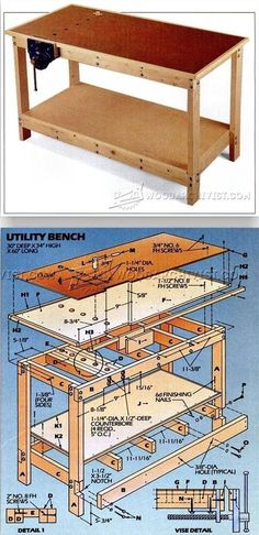 Garage Workbench Plans - Workshop Solutions Projects, Tips and Tricks | WoodArchivist.com