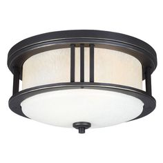 Found it at Wayfair - Crowell 2 Light Outdoor Ceiling Flush Mount