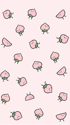 Pink, wallpaper, and kawaii image Cute Wallpaper Backgrounds, Cute Cartoon Wallpapers, Tumblr Wallpaper, Wallpaper Iphone Cute, Aesthetic Iphone Wallpaper, Aesthetic Wallpapers, Emoji Wallpaper, Peach Wallpaper, Kawaii Wallpaper