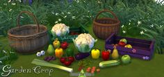 Around the Sims 4 | Custom Content Download | Objects | Garden Crop