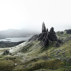 hiked up to the old man of storr this afternoon. i've always wanted to see this place and big thanks to @olympusuk for making it possible!  @olympusuk #UpInSkye by adampartridge