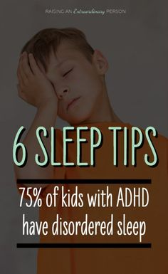 of Children with ADHD experience sleep problems. These 6 actionable tips will help your child with ADHD sleep better which is crucial for development. Sleep Apnea In Children, Kids Sleep, Child Sleep, Sleep Walking Kids, Sleep Help, Baby Sleep, Adhd Odd, Adhd And Autism, Babies R Us