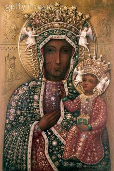 Black Madonna - housed at the Jasna Góra Monastery in Częstochowa, Poland.