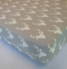 Fitted Crib sheet   Buck in Forest Deer by CustomBabyCreations