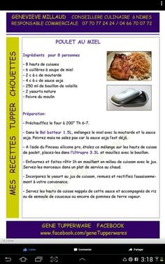 Poulet au miel Tupperware Pressure Cooker, Tupperware Recipes, Marmite, Food Illustrations, Food Art, Food Inspiration, Coffee Shop, Eat, Cooking