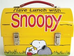 Snoopy Lunchpail.  Mine was plastic from the 1970's with a similar shape to this one.