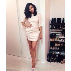 "@nataliehalcro's photo: ""How cute is this leather #korarae dress  from designer @rachel_turzer"""