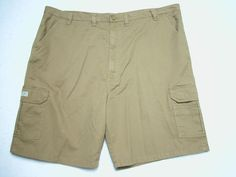 c1716ef55d Mens Wrangler Brown Cargo Shorts Sz 48 Loose Fit Tech Pocket for sale  online | eBay