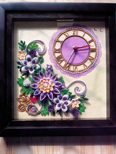 Richa 's Délice: My new quilled WALL CLOCK