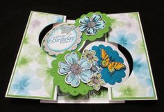 Stamp & Scrap with Frenchie: Extra Double Flip Ciecle Card with Thinlits and winner for blog candy