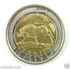South Africa 5 Rand, 2004 for sale online Sell Old Coins, Coins For Sale, Rare Coins, South Africa, Metallic, Free Shipping, Ebay, Products, Gadget
