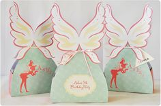 Fairy themed party gift boxes by Teipea on Etsy, $2.00