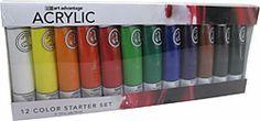 2.5 oz.  Acrylic Paint Tube 12 Color Set