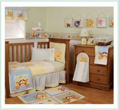 Winnie the Pooh nursery set.