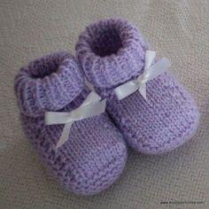 Sapatinhos de Bebê em Tricô – Passo a Passo