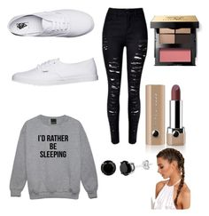 """""""🖤 want to be home 🖤"""" by nariviahoyos on Polyvore featuring Vans, Bobbi Brown Cosmetics and Marc Jacobs"""