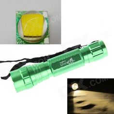 UltraFire LED 10W 1-Mode 800lm Bright Warm White Flashlight - Green (1 x 18650 / 2 x CR123A). Note: We are currently unable to ship to addresses in HongKong, mainland of China.. Tags: #Lights #Lighting #Flashlights #LED #Flashlights #18650 #Flashlights